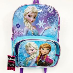 New Backpack Disney Frozen Backpack With Lunchbox